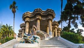 barcelona guellparc Arkivfoto
