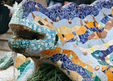 barcelona guellpark Royaltyfri Bild