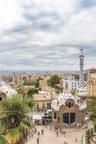 barcelona guellpark Arkivfoto