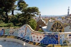 barcelona guellpark arkivbild