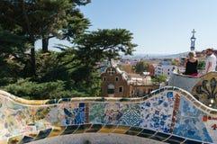 barcelona guellpark royaltyfria bilder
