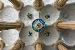 barcelona guellpark Fotografering för Bildbyråer