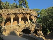 barcelona guellpark spain royaltyfria foton