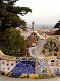 barcelona guellpark spain royaltyfria bilder