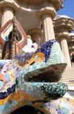 barcelona guellpark spain royaltyfri bild