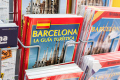 Barcelona guidebooks Stock Images