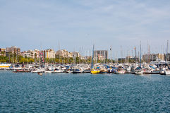 Barcelona-Hafen. lizenzfreie stockfotos