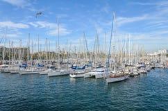 Barcelona-Hafen Lizenzfreies Stockfoto