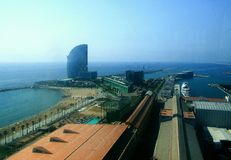Barcelona-Hafen Lizenzfreie Stockfotos