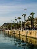 Barcelona hamn Royaltyfria Bilder