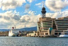 Barcelona hamnstad spain Royaltyfria Bilder