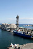 Barcelona Harbor. Seen from above Royalty Free Stock Photos