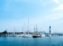 Barcelona Harbor Royalty Free Stock Image