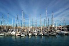 Barcelona Harbor near Las Ramblas Stock Photography