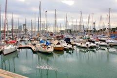 Barcelona Harbor Stock Photography