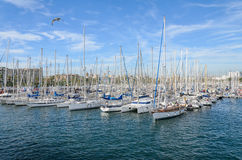 Barcelona harbor Royalty Free Stock Photo