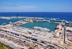 Barcelona Harbor royalty free stock photos