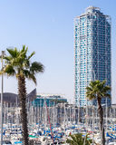 Barcelona Harbor royalty free stock photo