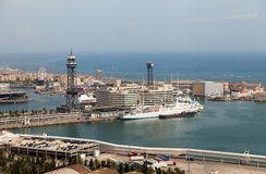 Barcelona harbor, Spain. Royalty Free Stock Images