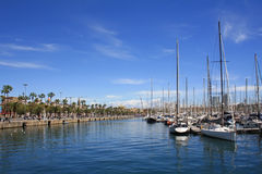 Barcelona harbor Royalty Free Stock Photography