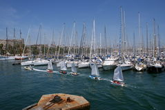 Barcelona harbour. A big picture of Barcelona harbour stock photography