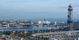 Barcelona harbour Stock Photo
