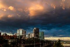 Barcelona himmel Arkivbild