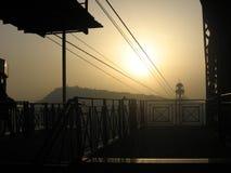 Barcelona-Himmel-Linie lizenzfreies stockbild