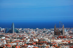 Barcelona himmelsikt Arkivbilder