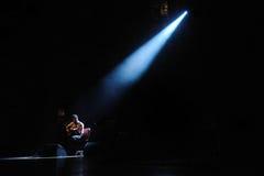 Jose Gonzalez wykonuje przy Barcelona Fotografia Royalty Free