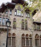 Barcelona Hiszpania Architektoniczni szczegóły środkowa ulica miasto zdjęcie stock