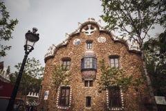 BARCELONA HISZPANIA, KWIECIEŃ, - 22, 2016: Parkowy Guell architektem Anton Fotografia Royalty Free