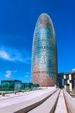 Barcelona Hiszpania, Kwiecień, - 17, 2016: Torre wierza Agbar Fotografia Royalty Free