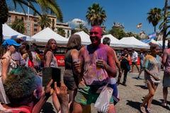 BARCELONA HISZPANIA, LIPIEC, - 9, 2016: Holi festiwal Obraz Stock