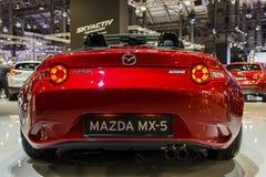 BARCELONA HISZPANIA, MAJ, - 2015: Mazda MX5 2016 Obraz Royalty Free