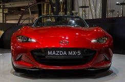 BARCELONA HISZPANIA, MAJ, - 2015: Mazda MX5 2016 Zdjęcie Royalty Free