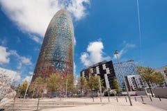 BARCELONA HISZPANIA, MAJ, - 7: Torre Agbar na Maju 7, 2016 w Barcelona, Hiszpania 38 kondygnacja basztowa, budujący w 2005 Obrazy Royalty Free