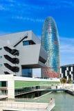 Torre agbar w Barcelona, Hiszpania Fotografia Stock