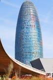 Torre agbar w Barcelona, Hiszpania Obrazy Royalty Free
