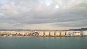 Barcelona Hiszpania, Oct, - 01, 2018: Portu morskiego, paliwa i ładunku kompleks, zbiory