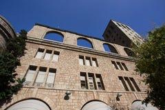 BARCELONA HISZPANIA, PAŹDZIERNIK, - 30, 2015: Widok budynek przy Montser Fotografia Stock