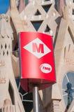 BARCELONA HISZPANIA, STYCZEŃ, - 02, 2018: Barcelona metra wejście si Obraz Royalty Free