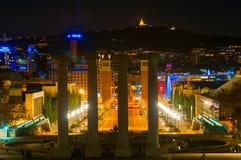 BARCELONA HISZPANIA, STYCZEŃ, - 02, 2018: Widok na hiszpańszczyzna kwadracie od Zdjęcia Stock