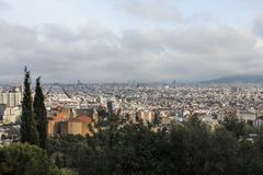 Barcelona, Hiszpania: Widoki od parka GÃ ¼ ell Zdjęcia Stock