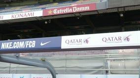 Barcelona, Hiszpania - 25 2016 Wrzesień: Barcelona FC obozu Nou stadion futbolowy zbiory