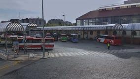 Barcelona, Hiszpania - 26 2016 Wrzesień: Barcelona Nord przystanek autobusowy zdjęcie wideo