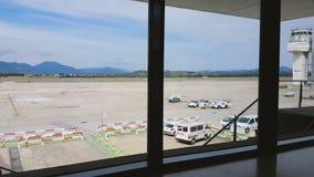 Barcelona, Hiszpania - 26 2016 Wrzesień: Girona Costa Brava Barcelona lotnisko zbiory wideo