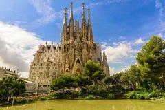 BARCELONA HISZPANIA, WRZESIEŃ, - 15: Sagrada Familia 2015 w Barcelona Obraz Royalty Free