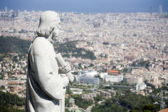 Barcelona - holy over the city Stock Photos