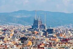 Barcelona Hoogste mening Royalty-vrije Stock Foto's